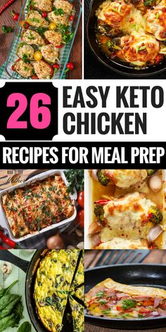 26 Easy Keto Chicken Dinner Recipes Perfect for Meal Prep Ketogenic chicken recipes! I've lost over 80 pounds on the keto diet & these are my favorite chicken recipes to meal prep! The low carb…More 15 Indulgent Keto Diet Friendly Crockpot Recipes Keto Foods, Ketogenic Recipes, Diet Recipes, Ketogenic Diet, Dessert Recipes, Keto Snacks, Ketogenic Breakfast, Ramen Recipes, Ketogenic Lifestyle