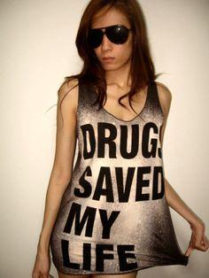 Drug Save My Life Pop  Rock Tank Top