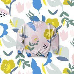 Cecille // Bella Gomez, simple, pattern, graphic, contemporary, floral, repeat