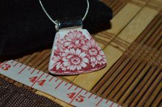 Recycled Broken Sutherland China Necklace, H&M Historical Britain Pendant w/ Box #CLyonsDesign #Pendant
