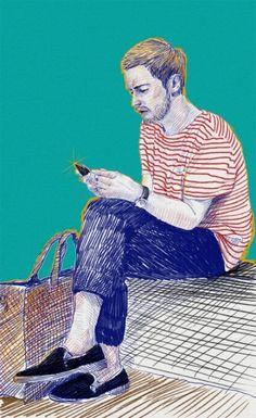 fashion illustration by jo in hyuk, via Behance