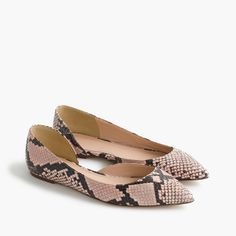 Audrey flats in snakeskin-printed leather item G0879