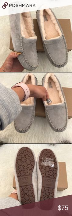 UGG authentic women's moccasins sz 6 New UGG authentic women's moccasins sz 6 New BOX is missing Lid. Itemcloset#tresei UGG Shoes