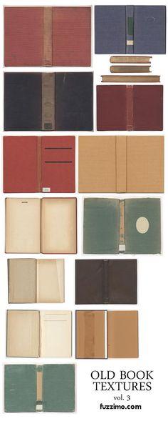old book textures - free printables  *********************************************   Fuzzimo - #miniature #books