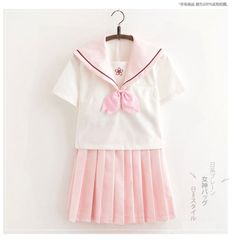 New Pink Cute Japanese School Uniforms For Girls Embroidery Design Summer Clothes Jk Uniform Japanese School Uniform, School Uniform Girls, School Uniforms, Moda Ulzzang, Summer Outfits, Cute Outfits, Summer Clothes, Kawaii Cosplay, Japanese Embroidery