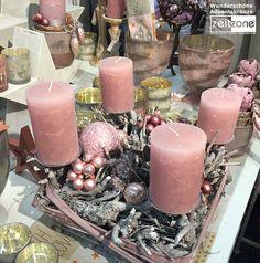 Auch Mit Kerzen Und Deko In Rosa Läßt Sich Ein Adventskranz Wunderschön  Gestalten. Https: