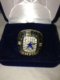 Dallas Cowboys five (V) Time Super Bowl 10 CT Gold Ring