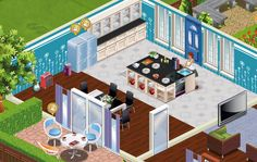 Use bright colors for your kitchen to give the impression of a bigger space. Play Suburbia!