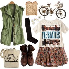 Military & girly by hanaglatison on Polyvore