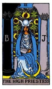 The High Priestess - Becoming familiar with the Rider-Waite-Smith Tarot is a must for newbie #tarot readers