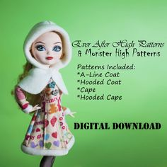 Hey, I found this really awesome Etsy listing at https://www.etsy.com/listing/174704260/coat-and-hooded-cape-doll-clothes