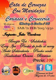 Pa' Las Birras: Cata de cervezas con maridaje Coriasso's