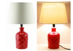 """Set of 2 19"""" Ceramic Red Flower Vase Finish Table Lamps $52.21 http://stores.ebay.com/myfuncorp"""