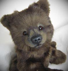 Theodore - artist bear soft sculpture by 'Bear' Bottoms Originals