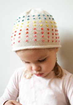 Laura's Loop: Button Candy Hat - The Purl Bee - Knitting Crochet Sewing Embroidery Crafts Patterns and Ideas!