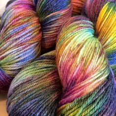 Glammy sock yarn 430 yards  Carnival by LunabudKnits