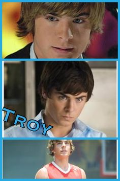 Troy in High School Musical 1, 2 ,and 3