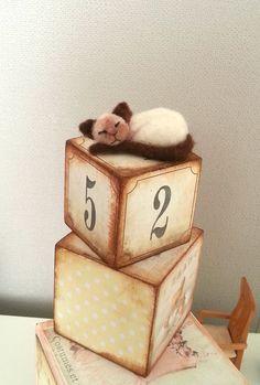 Sleeping cat  Artist bear OOAK cat kitten by BearytalesbyMireille