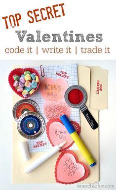 Top Secret Valentine Writing Center! - Inner Child Fun