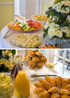 Bridal Shower Brunch, food table