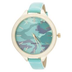 Women's Xhilaration® Leatherette Strap Analog Watch - Blue