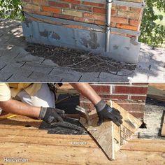 No Chimney Cricket, stop water sitting/leaking around chimney