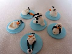 Frozen Inspired Fondant Cupcake Toppers by ArtCreationsbyLK, $25.00