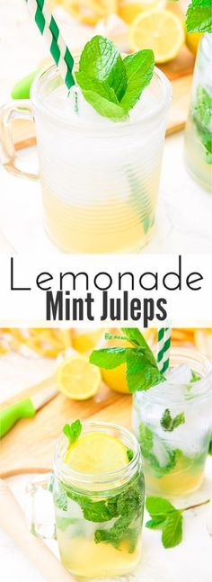 This lemonade mint julep recipe blends summer's most refreshing fresh squeezed lemonade and stirs it up into spring's hottest Kentucky Derby cocktail! Lemon, bourbon, mint, and sweet that's perfect for an outdoor party, watching the Kentucky Derby, or just a relaxing time outside on your back porch! via @blessherheartya