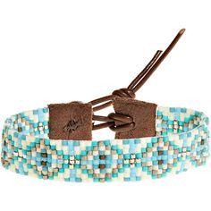 CHAN LUU Turq Diamond Seed Bracelet ($89) ❤ liked on Polyvore featuring jewelry, bracelets, accessories, caprimix, bohemian jewelry, metallic jewelry, bohemian style jewelry, boho chic jewelry and boho jewelry