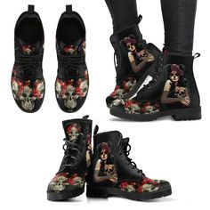 What is not to love about our latest Sugar-Skull Boots? Beware of Imitations Features eco-friendly le Sugar Skull, Leather Boots, Shoes, Fashion, Moda, Zapatos, Sugar Skulls, Shoes Outlet, Fashion Styles