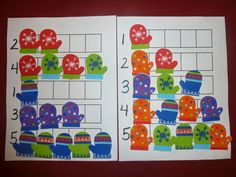 Mom to 2 Posh Lil Divas: January Winter Theme - M is for Mitten: Marble Paint Mittens & Mitten Math