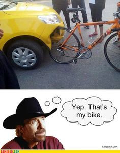 Chuck Norris' Bike of AWESOME. /// You Don't Hit Chuck's Bike With Your Car. He Hits Your Car With His Bike