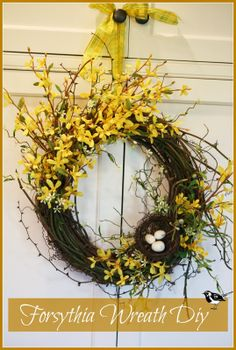 Beautiful spring branches become an easy to make wreath