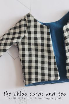 sewing: the chloe cardi and tee {free 18 doll shirt pattern} || imagine gnats