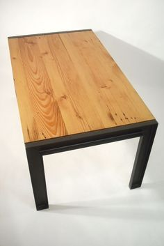 Custom Made Reclaimed Douglas Fir and Steel Table