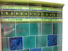 Victorian glazed wall tiles to go into the porch of my London Victorian Terraced house...  Looking for more designs that I can replicate to restore the look of the porch.