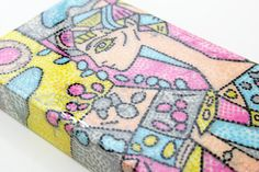 Tina Walker for Shimmerz Paints, Resin covered wood canvas, Picasso inspired