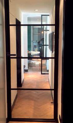 Nero Legno CHIARI zwarte binnendeur blank vlak glas Decor, Furniture, Room, House, Interior, New Homes, Home Decor, House Interior, Room Divider