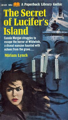 Miriam Lynch - The Secret of Lucifer's Island. Vintage gothic paperback book art / artwork / cover