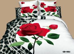 """**Elegant 4PC 3D Sealed With A Kiss Queen Size Duvet Cover Set** We are located in the USA   Buy It Now!!  Sale: includes:  (1) Queen Size Duvet Cover: 200cm*230cm (approx. 78.7"""" x 90.5"""") * no Filler (1) Queen Flat Bed Sheet: 250cm*250cm (approx. 98"""" x 98"""") *No Elastic (2) Pillow Cases:  48*70*5cm (19"""" x 30"""") Fabric:  100% Cotton. Reactive Dye Printing.   About Reactive Dye: *Healthy for the skin, Softer than all-purpose dyes.  Colors are brighter and long lasting."""