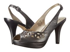 Anne Klein Anne Klein  Rubena Pewter Leather High Heels for 31.60 at Im in! #sale #fashion #I'mIn