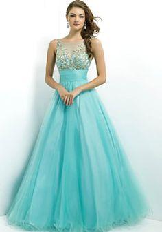 Natural Waist Princess Floor Length Full Back Tulle Prom Dress - Promdresshouse.com
