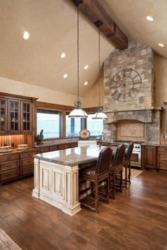 ceramic wood tile in kitchen | love the look of wood in your kitchen ...
