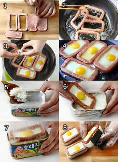 10 Basic Must-Try Recipes For Anyone Who Truly Loves Luncheon Meat (Spam) I Love Food, Good Food, Yummy Food, Luncheon Meat Recipe, No Cook Meals, Food To Make, Breakfast Recipes, Asian, Cooking Recipes