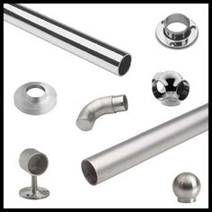 in or offers a variety of design applications for both commercial and residential needs. Our stylish collection is known to add a decorative, yet functional, accent to any railing in the home or business. Stainless Steel Railing, Glass Railing, Railings, Commercial, Hardware, Satin, Doors, Stylish, Business