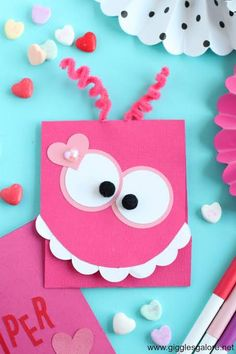 DIY Monster Valentine's Day Card Cute DIY Monster Valentine Card made with Cricut Maker and Scoring Wheel.Cute DIY Monster Valentine Card made with Cricut Maker and Scoring Wheel. Happy Valentine Day Quotes, Valentines Day Funny, Valentine Day Crafts, Walmart Valentines, Homemade Valentine Cards, Secret Valentine, Diy Valentines Cards, Happy Quotes, Baby Dekor