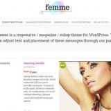 Premium Responsive eCoomerce Theme for WordPress for online shop & store in women and fashion style. Based on WooCommerce free Plugin. Sale Dress, Jewellery, Accessories, Clothes, Shoes and so on. Theme is clean and somehow minimal. Features: Homepage Slider, Photo Gallery, Related Products, Magazine, Social Media Icons and more.