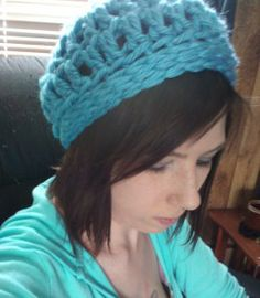 Chunk Slouch Hat  P/Q Hook  L Hook  Super Chunk Yarn-I used about a skein of Lion Brand Hometown  6 dc into magic loop, join to first dc.  R...