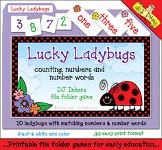 Have you spotted our NEW counting game? 'Lucky Ladybugs' will help you teach kids numbers and number words, plus practice sorting and counting too!