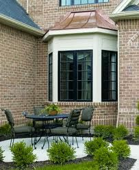 bay window exterior styles - Love the metal roof